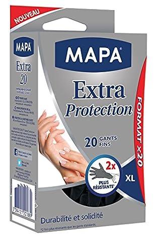 Mapa - Gants de Ménage Extra Protection - 60 gants fins - Taille 9/XL
