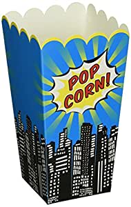 Pop Art Superhero Popcorn Boxes