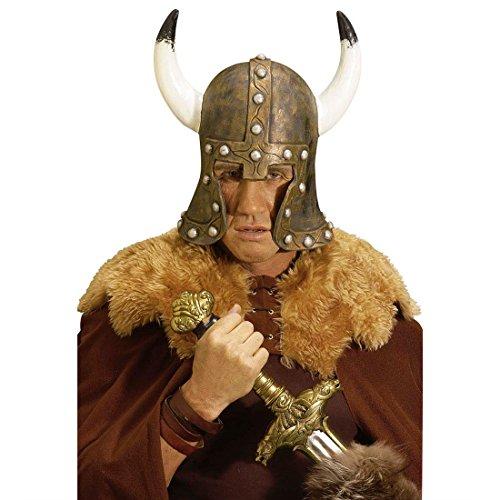 Latex Barbar Wikinger Helm Barbaren Wikingerhelm Latexhelm Barbarenhelm Kostüm Zubehör Normannen Kopfbedeckung (Erwachsene Barbaren Kostüme)