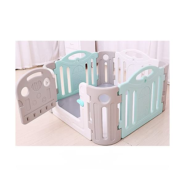 Baby Game Safety Fence Children's Playpen Guardrail Play Yard Indoor Toddler Crawling Door Bar Toy Playground Plastic PE indoor JD Playpen The sturdy material provides a safe environment for your baby. 【Material】: Plastic PE.【Size】: 120*120*68cm , 120*190*68cm , 190*190*68cm 【High Security】: The height of the fence is 68cm, enough for the baby to stand and walk, give your baby a security space; Rotary switch button door,easy access. 4