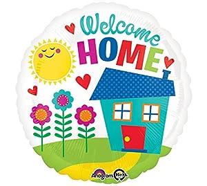 Amscan International-Globo en forma de 3368601, Bienvenido a casa