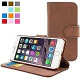 Coque iPhone 6, Snugg™ - Étui à Rabat de type Flip Cover / Smart Case En Cuir Marron Avec Garantie À Vie Pour Apple iPhone 6
