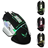 HITSAN X400 7 Keys 3200DPI Wired LED Variable Light Gaming Mouse One Piece