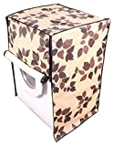 #4: Kuber Industries Front Load Fully Automatic Flower Design Washing Machine Covers For 6 kg, 6.5 kg, 7 kg, 7.5 kg (WMCF11_Cream)