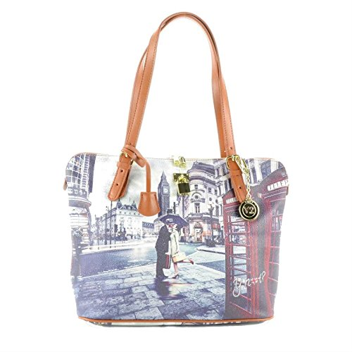 Borsa donna Y Not Londra G 388 Stampa Romantic London