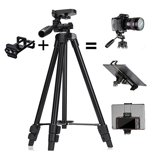 Tablet Stativ Halterung, ZenCT 3-in-1 Kamera Stativ+Tablet Halter+Handy Halterung 120cm (47
