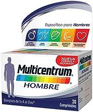 Multicentrum Hombre, Complemento Alimenticio con 13 Vitaminas y 11 Minerales, para Hombres a partir de los 18