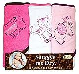 Animaux Sauvages - Set de serviettes de bain avec capuche - 3 pièces - Fille - Frenchie Mini Couture