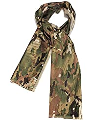 Dcolor Foulard Echarpe Cheche Cache-Col Camouflage Tactique Militaire Armee Police Moto Camouflage profonde