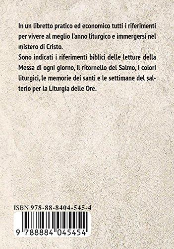 Calendario Liturgico Romano 2020.Libro Calendario Liturgico 2019 Di Autori Vari