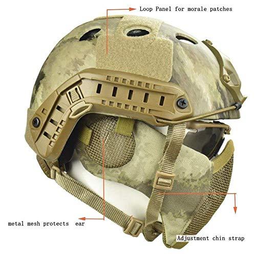 LIKEDA Casco Protector Airsoft Paintball, Cascos Tácticos con Máscara De Malla De...