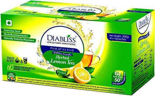 Diabliss Herbal Diabetic Friendly Lemon Tea – Low Gi – 30 X 10 Grams Sachet Box – Combo Pack Of 2 No's