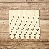 Bütic GmbH Sperrholz Schindeln - Rautenform - Größen- und Mengenauswahl, Schindelgröße:45mm x 22.5mm, Pack mit:100 Stück