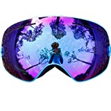Copozz Pro Skiing Snowboarding Goggles UV400 Double Lens UV Anti-fog Ski Goggles for Winter Skiing (Blue)