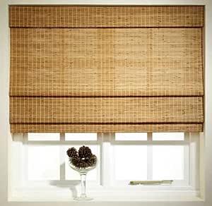 Ready Made Bamboo Roman Blind 120cm X 180cm Oak