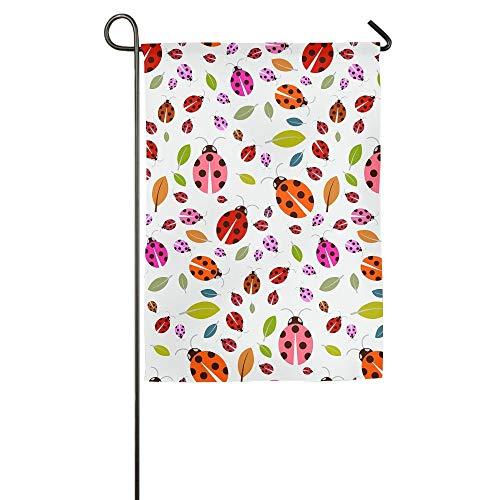HujuTM Ladybirds and Leaves Home Garden Indoor/Outdoor Flags 18\
