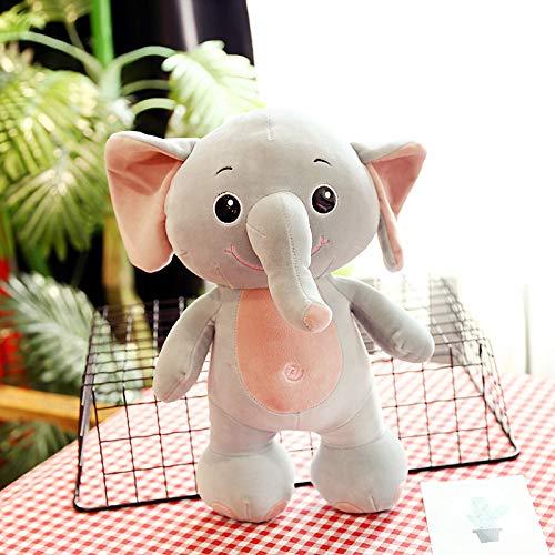 luludsoo Peluche Morbidi, Regalo di Compleanno, Coppie di bambiniElefante Rinoceronte Ippopotamo 25 cm (0,18 kg) Elefante