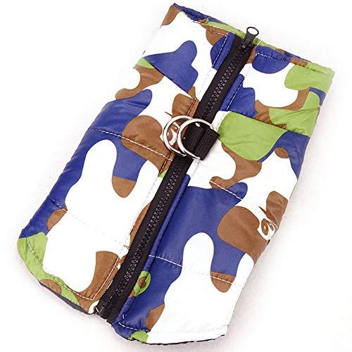 Hilai Camouflage-Kleidung Winter-Hotdog Schwarze Weste Rüstung Welpen Jacke m (Hunde Kostüm Rüstung)