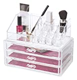 Glitz and Glamour 80810 Acryl Luxus Kosmetik Make up Organizer mit Schubladen, Transparent