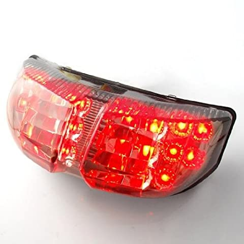 Motorcycle Racing 22 LED Integrated Lamps Running Brake Lights Turn Signal Rear Taillight Fit For 2006 2007 Yamaha FZ1