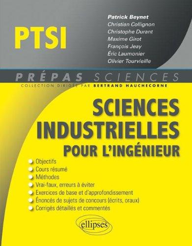 Sciences Industrielles pour l'Ingénieur PTSI