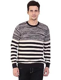 TAB91 Men's Cotton Rich Navy Blue Round Neck Pullover