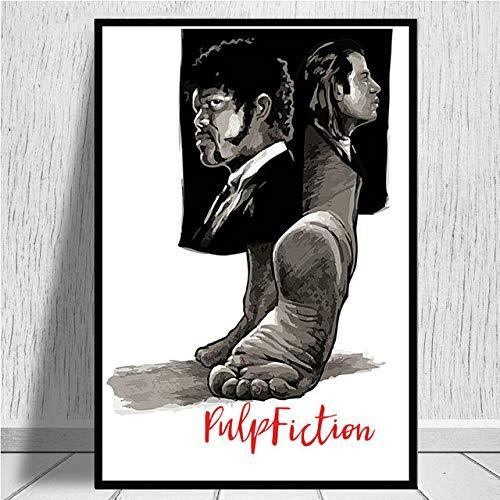 Eleanor Pulp Fiction Druckgrafik Kunst Malerei Retro Poster Classic Movie Wandbild für Wohnzimmer Home Collection Dekoration kein Rahmen 40x60 cm -