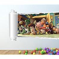 Toy Story A TODO COLOR adhesivo pared - Niña Niño DISNEY DORMITORIO C133 - Large: 60 cm x 90 cm