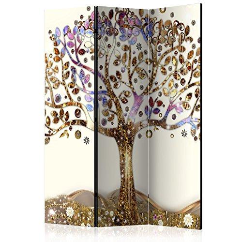 murando Paravent 135x172 cm Une Seule Côté Impression sur Toile intissée 100% Opaque Foto Paravent Décoratif en Bois avec Interieur Impression l-A-0002-z-b