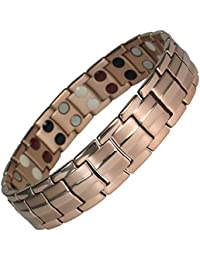 MPS® EUROPE Bio 4 in 1 Elements Rose Gold Titanium Magnetic Bracelet, 3000 gauss Magnets + FREE Links Removal Tool