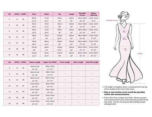 Ever Pretty Damen Elegant Langarm Abendkleid Maxikleider 08692 Weiß