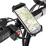 Sicneka Bike Phone Mount, Einstellbar Silikon Handy Fahrrad Halterung Lenker & Motorrad Halterung Lenker für iPhone X/6/7/8Plus, Samsung Galaxy S9/S8Etc.