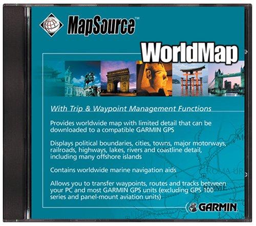 Garmin CD Worldmap V4 Garmin Mapsource-software
