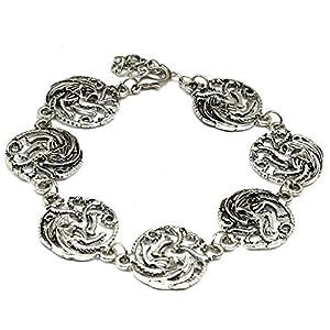 Beaux Bijoux Juego de Tronos Dragones Encanto Pulsera – joyería de Oro – Tres Cabezas Dragon Charms – en Caja de Regalo 5