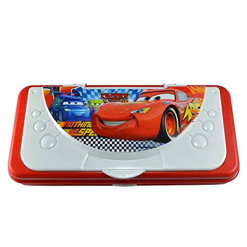 Saamarth Impex Cartoon Car Theme Based Pen Pencil Case Plastic Box Well Material Stationery SI-6608