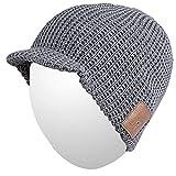 Qshell Slouchy Skully Bluetooth Strickmütze Cap mit Drahtloser Bluetooth Kopfhörer Ohrhörer Musik Audio Freisprech-Telefon-Anruf für Wintersport Fitness Gym-Übungs-Trainings Skifahren Snowboard