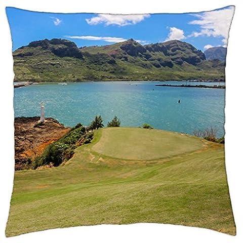 Princeville Golf Course Kauai Lagoons Hawaii - Throw Pillow Cover Case (16