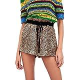 Oudan Pantalones Cortos para Mujeres Pantalones Cortos Elásticos de Cintura Alta...