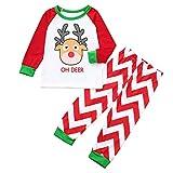 Darringls Conjunto de Pijamas Familiares de Navidad, Pijama Venado de Navidad Imprimir Top + Rayas...