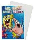 SpongeBob Glückwunschkarte Grußkarte Einschulung 1. Schultag