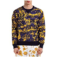 VERSACE JEANS COUTURE Män barock logotyp tryck sweatshirt