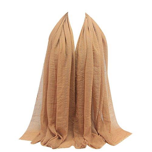 KPILP Premium Viskose Maxi Crinkle Cloud Hijab Schal Pashminas Soft Islam Muslim Kopftücher Umhang,Türkis41#