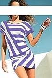 Heine - Best Connections Damen-Kleid Streifenkleid mit Steinen Mehrfarbig Größe 42