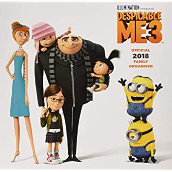 Despicable Me 3 Official 2018 Family Organiser Calendar - Family Planner Square Wall Format