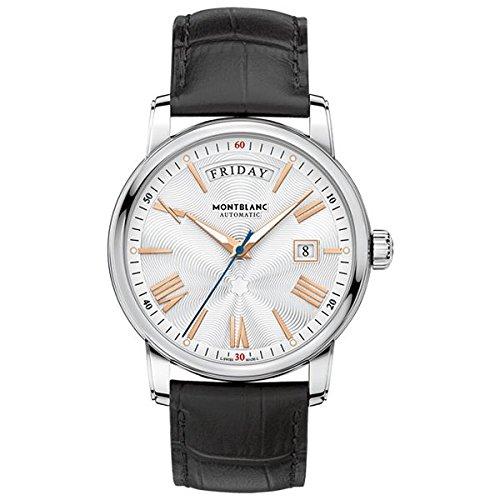8 - Montblanc Watches Reloj Analógico para Hombre de Automático con Correa en Cuero 114853