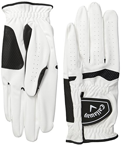 Callaway Xtreme 365 Left Hand Golf Gloves (Pack of 2) - White, Medium