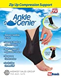 #10: Wuze Ankle Genie Zip Up Compression for Pain Relief -Reducing Swelling & Supporting Ankle Weakness For Men And Women (1Pcs) (Adjustable/Stretchable- One Size Fits All)