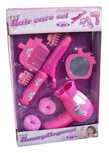 8tlg Mädchen Haarset Haarpflegeset Pflegeset Fön Puppenmutti
