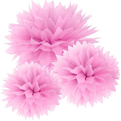 SurePromise One Stop Solution for Sourcing 30er Rosa Papier Spitze Ende Pompom Blumen Kugel 20/25/37cm Hochzeit Garten Wohnung Fest Feier Party Geburtstag Deko