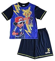 Pokemon Pikachu Ash Short Pyjamas 7 to 13 Years COMPUTER GAME PJ Pokemon Go W17